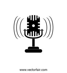 microphone sound noise melody music silhouette style icon