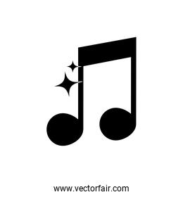 semiquaver note musical harmony melody sound music silhouette style icon