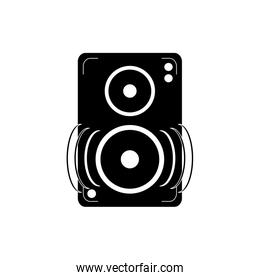 speaker amplifier noise melody sound music silhouette style icon