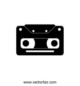 vintage cassette tape melody sound music silhouette style icon