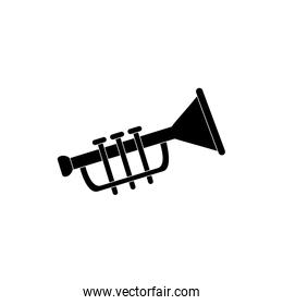 trumpet wind instrument melody sound music silhouette style icon