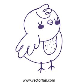 cute little chicken bird farm animal icon