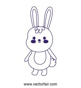 happy easter cute little rabbit cartoon season animal