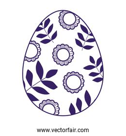 happy easter decorative egg ornament season icon