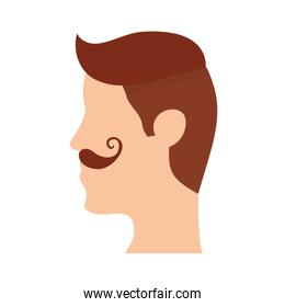 man with mustache head character