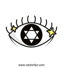 eye magic sorcery symbol icon