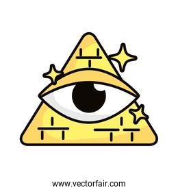 eye in triangle magic sorcery symbol