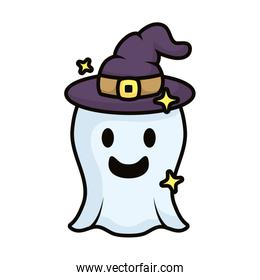 ghost with witch hat magic sorcery