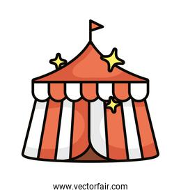 tent magic sorcery isolated icon