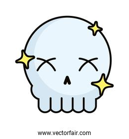 skull head with stars magic sorcery
