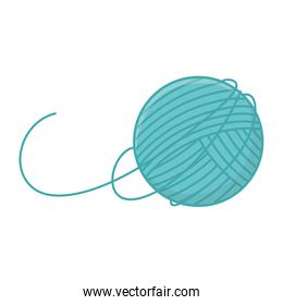 ball of wool equipment knitted icon design