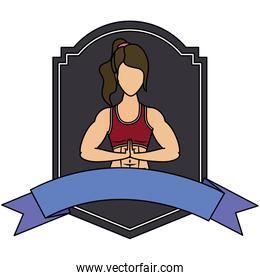 young woman athlete character in frame