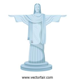 corcovade christ monument brazil icon