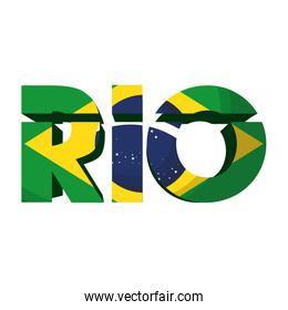 rio carnival poster with lettering
