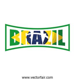 brazil carnival poster with lettering