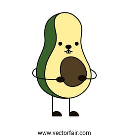 avocado fresh vegetable kawaii character