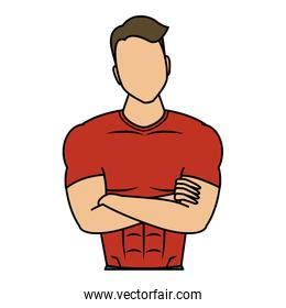 young man athlete character healthy lifestyle