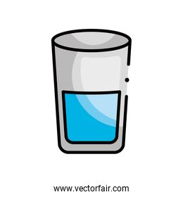 water glass icon, line color style
