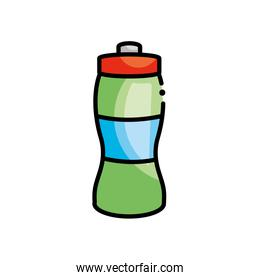 water bottle icon, line color style