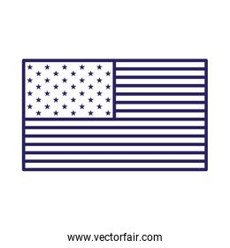 Isolated usa flag line style icon vector design