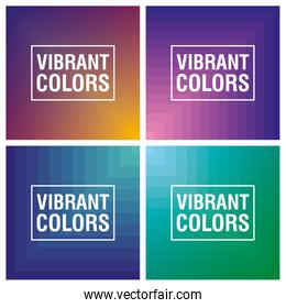 four vibrant colors background icon
