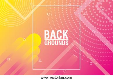 yellow and pink vibrant colors background icon