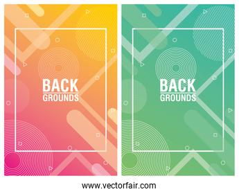 two vibrant colors background icon