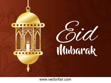 eid mubarak celebration lamp hanging