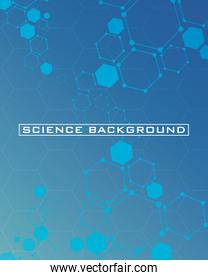 dark blue science background with lines structures