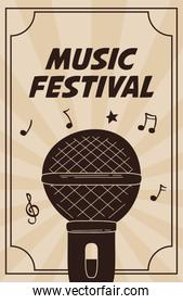 music fest poster with microphone