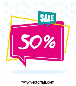 sale half price commercial banner poster
