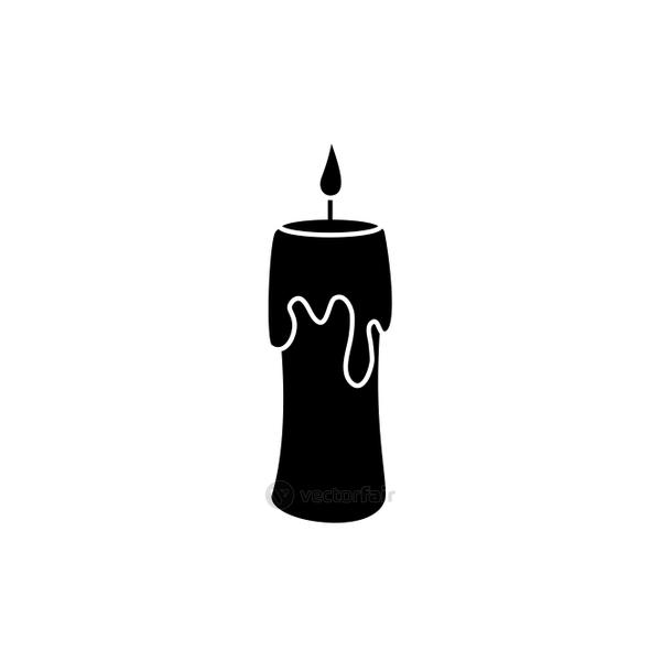 halloween candle decoration isolated icon