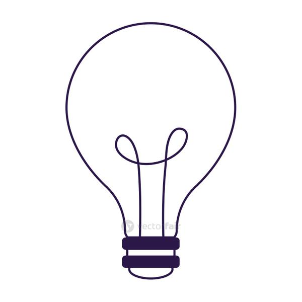 Isolated electric light bulb vector design