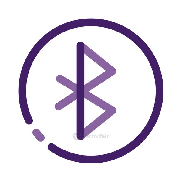 bluetooth user interface line style icon