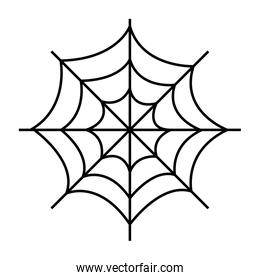 cobweb of halloween isolated icon