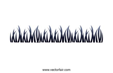 grass plants nature isolated icon