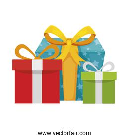 gift boxes present isolated icon
