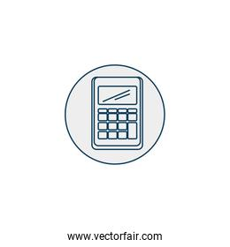 dataphone with voucher line style icon