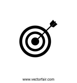 target with arrow isolated icon