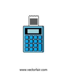 dataphone with voucher isolated icon