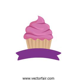 Isolated cupcake dessert vector design