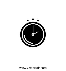 silhouette of chronometer time equipment isolated icon