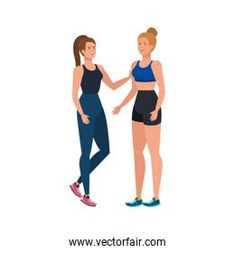 young women athlete avatar character