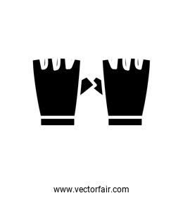 silhouette of fingerless gloves sport isolated icon