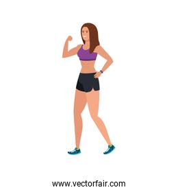 young woman athlete avatar character