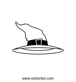 hat of witch halloween isolated icon