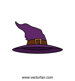 hat of witch for halloween icon