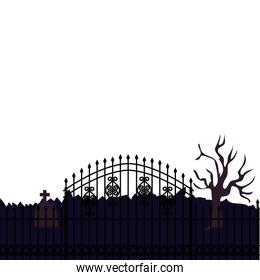 fence iron cemetery isolated icon
