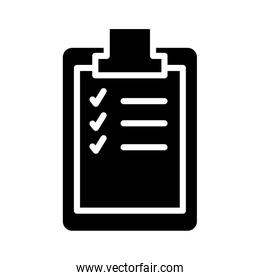 medical check list document silhouette style icon
