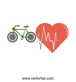 online doctor heartbeat health care flat style icon